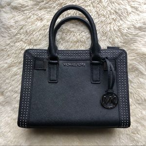 NWT Micheal Kors studded satchel in black